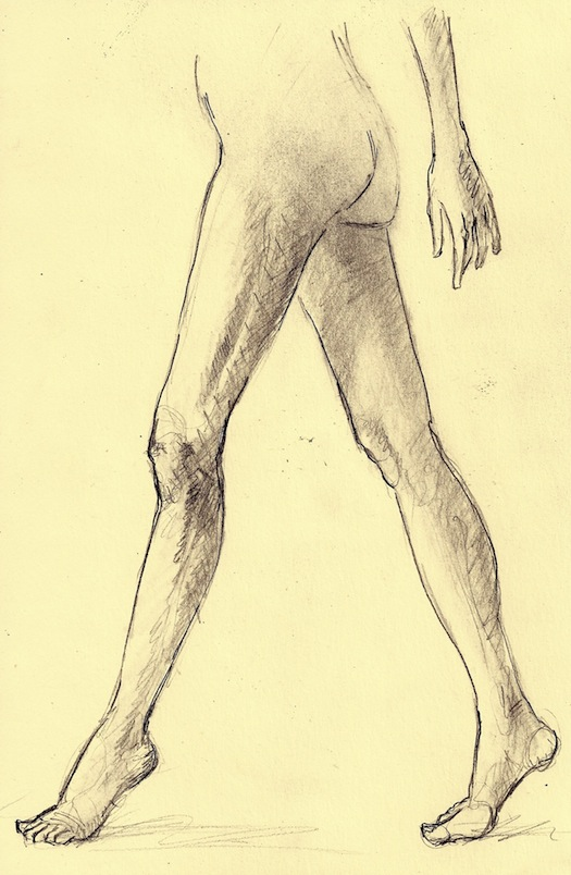 525x804 Figure Drawing How To Draw A Person Standing And Walking On Tiptoe