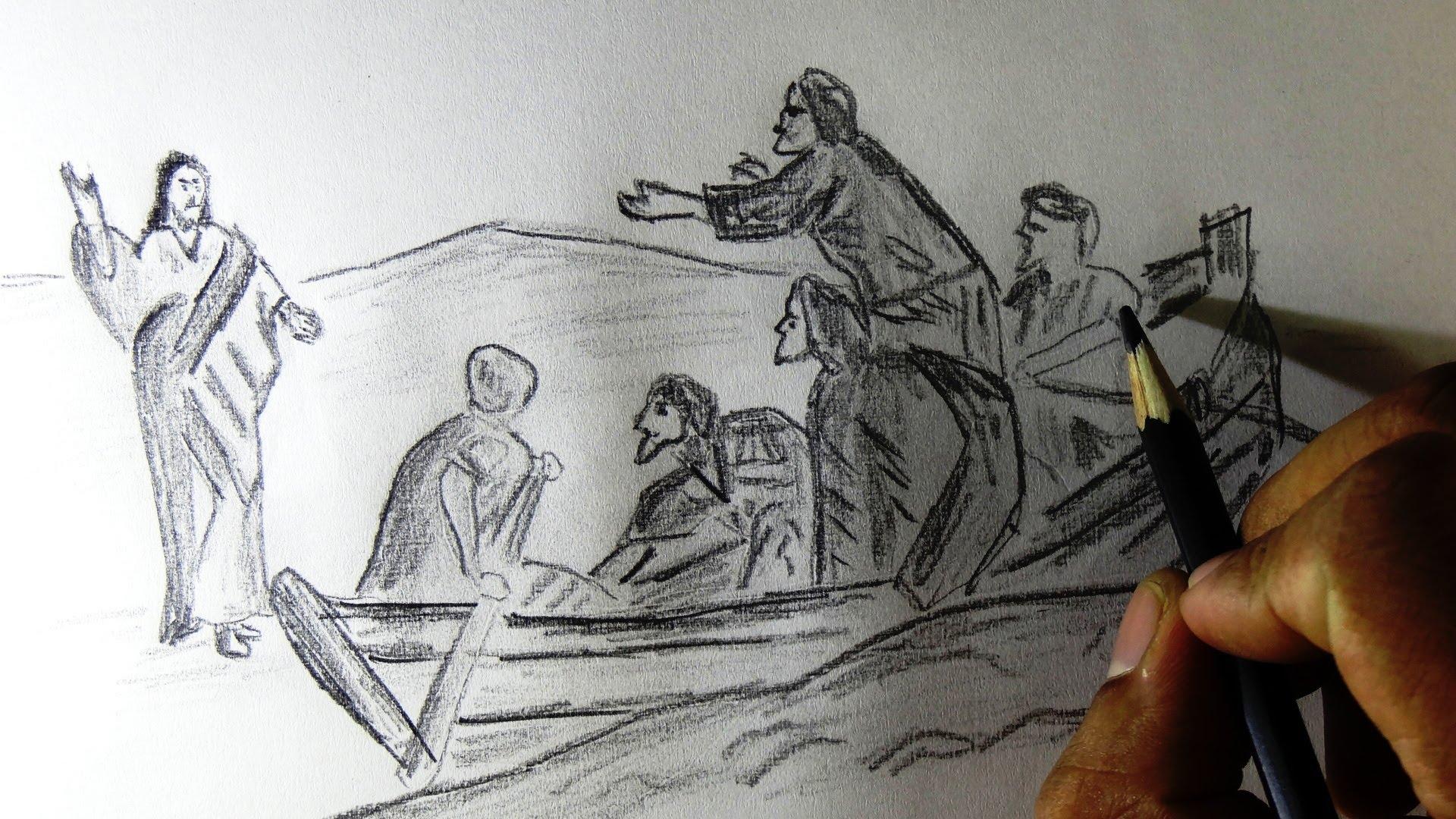 1920x1080 How To Draw Jesus Walking On Sea