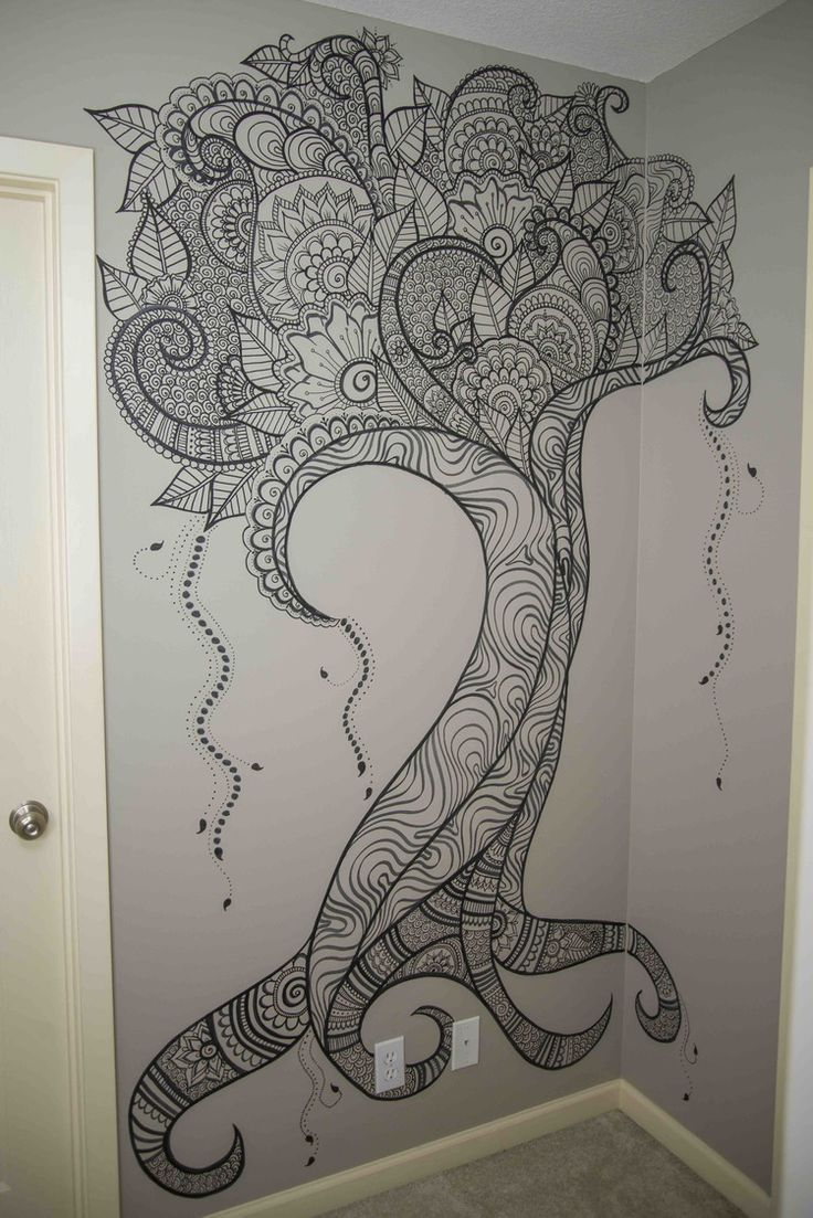 736x1103 17 Best Ideas About Wall Drawing On Vine Drawing