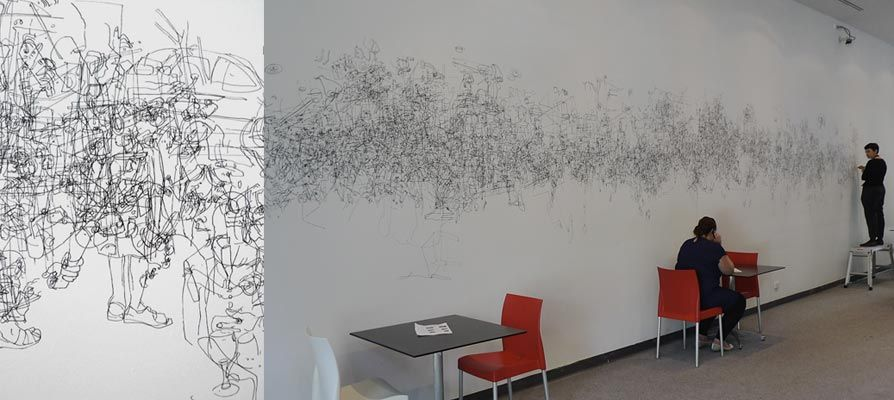 894x400 The Drawing Wall