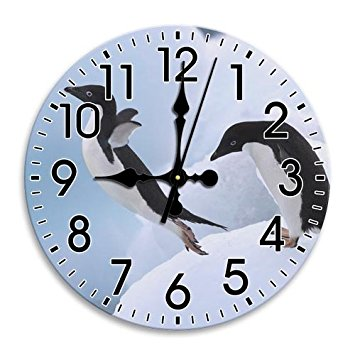 355x355 Round Wall Clock Drawing Room Clock Arabic Numbers
