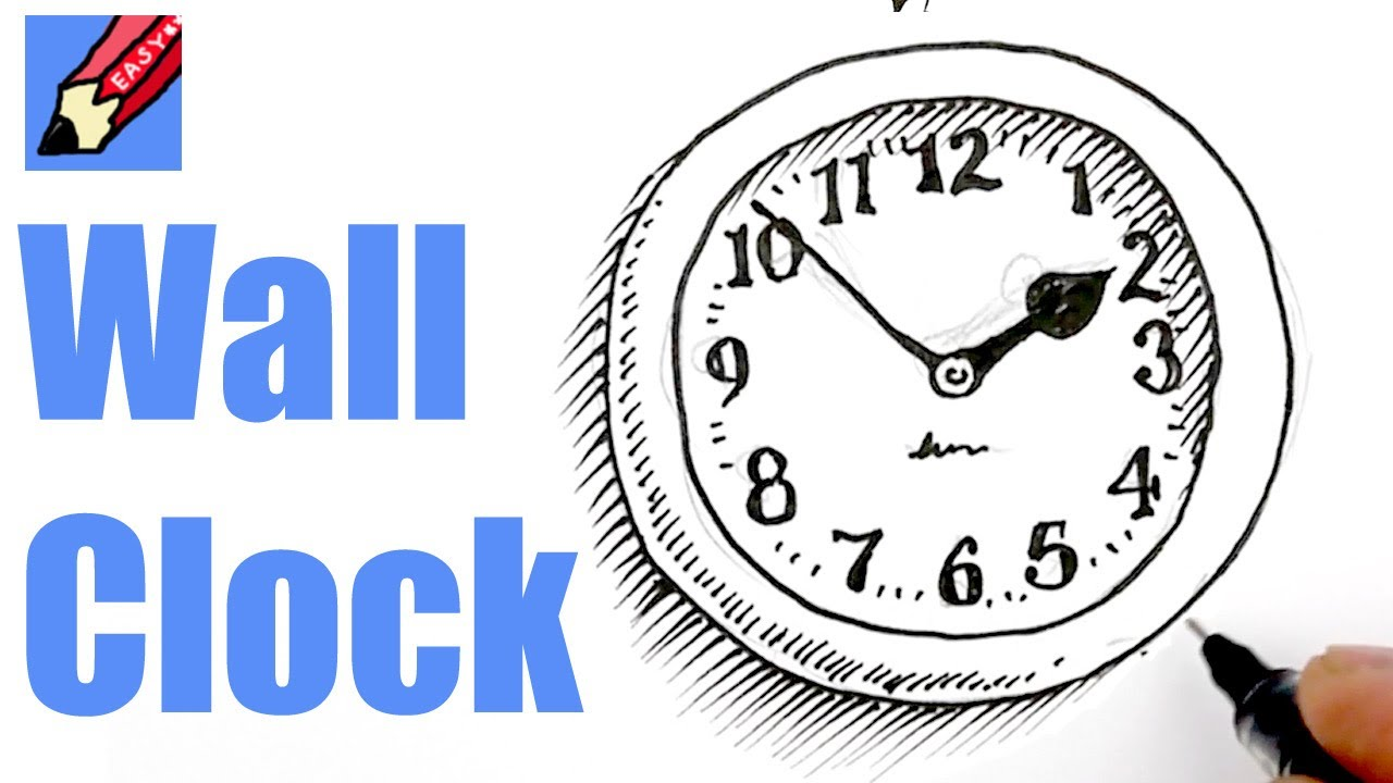 1280x720 How To Draw A Wall Clock Real Easy