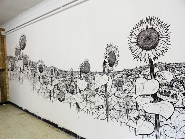 630x473 Cool Wall Drawings Fascinating Cool Wall Drawings Home Ideas