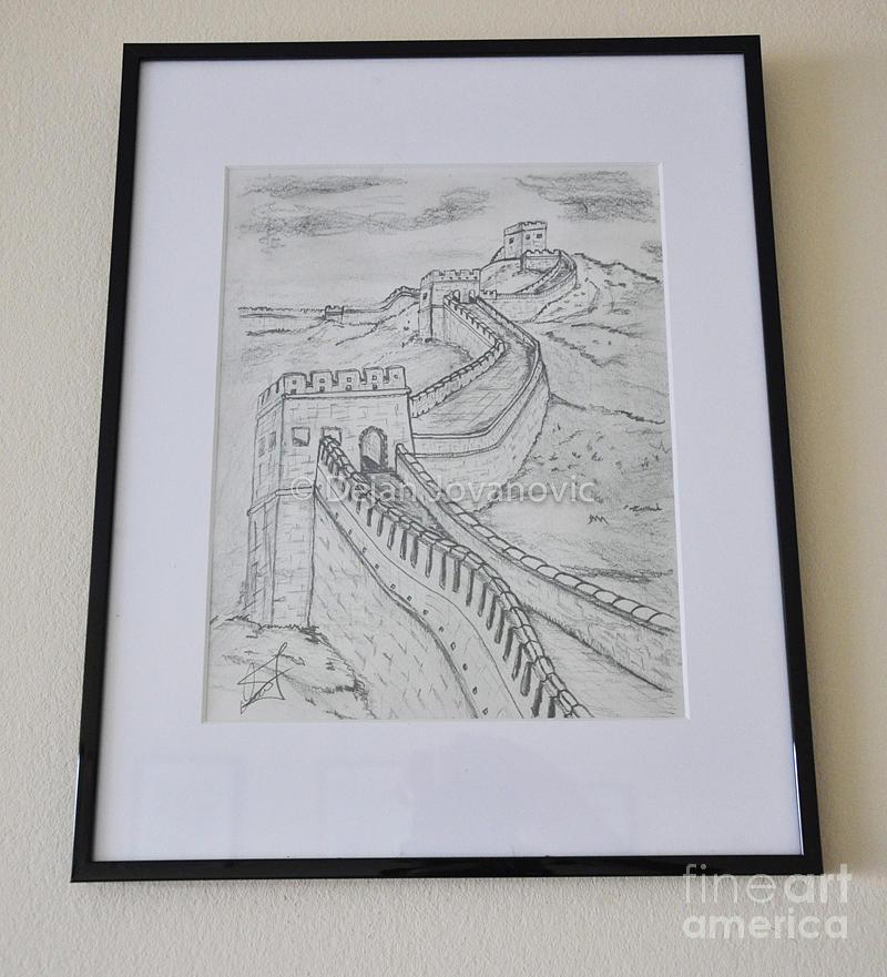 800x881 Great Wall Of China Drawing By Dejan Jovanovic