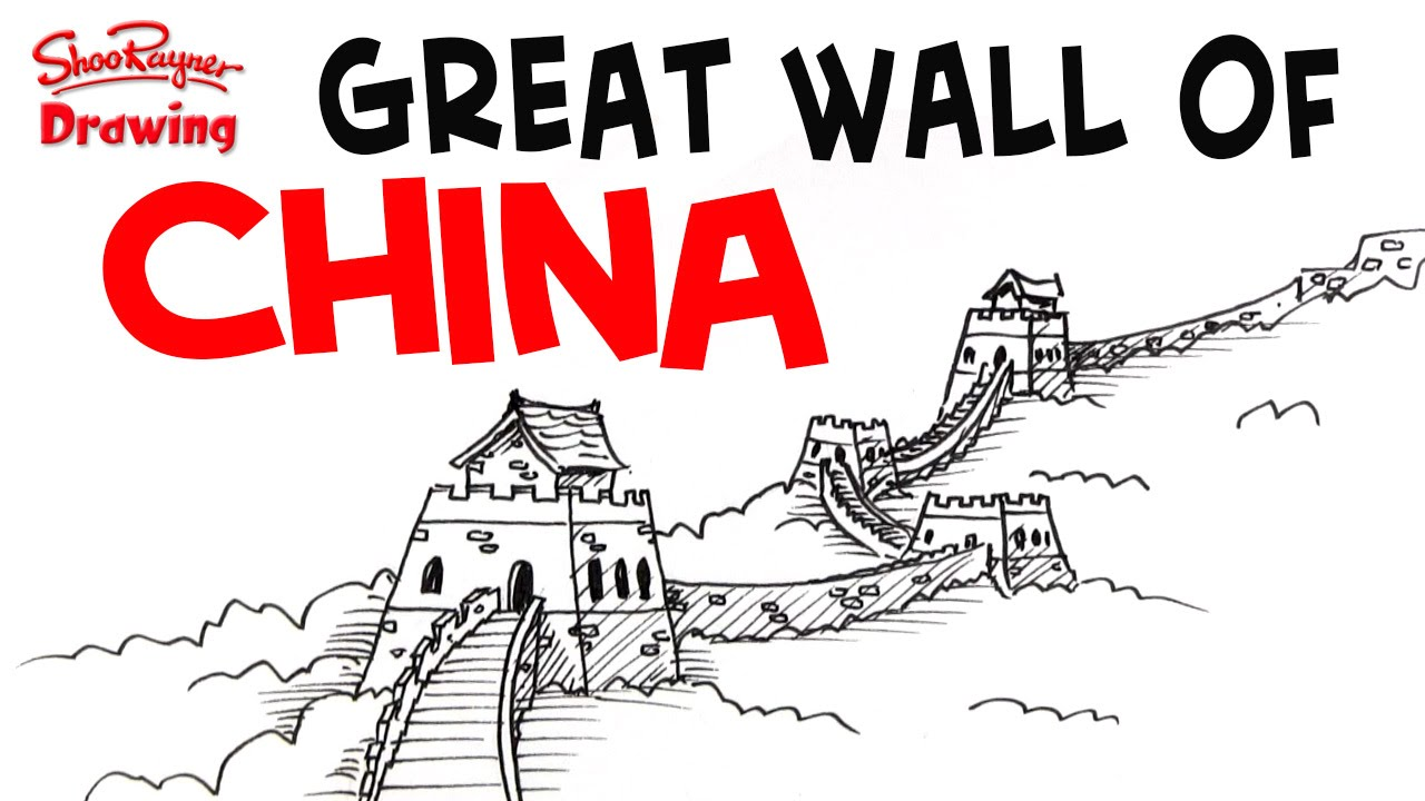 1280x720 How To Draw The Great Wall Of China
