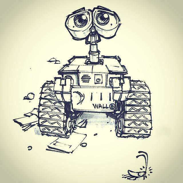 640x640 Shahin Ghasemi On Twitter Quick Sketch Wall E