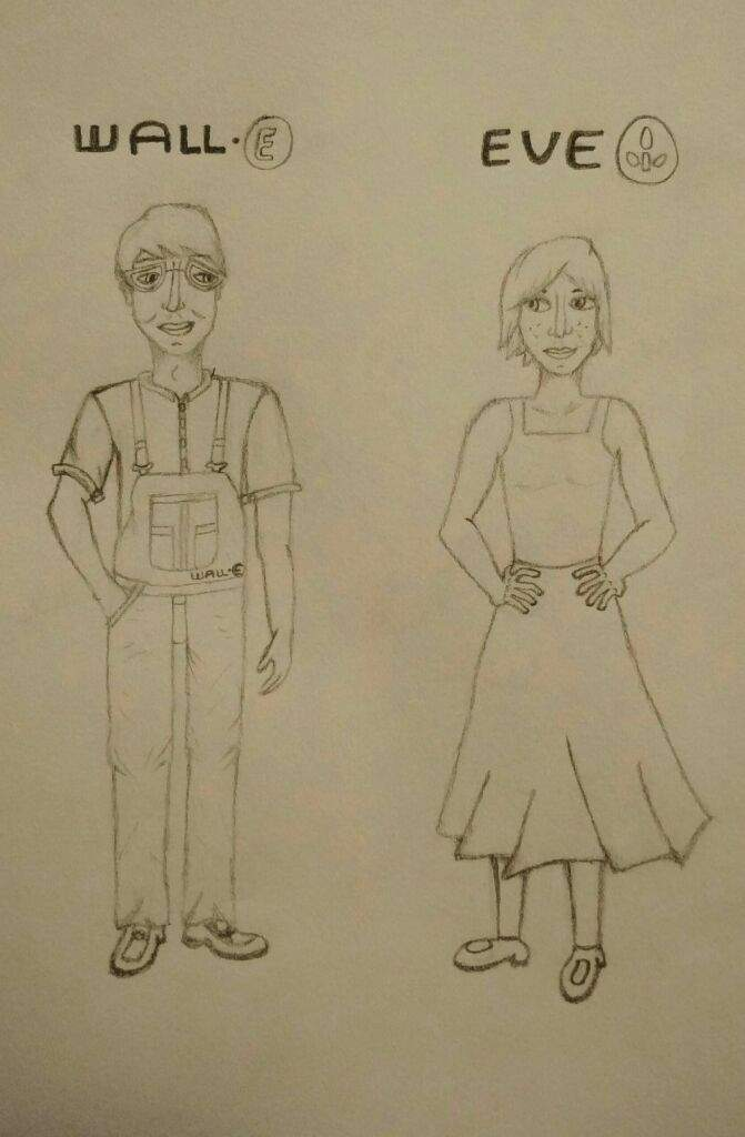 671x1024 Wall E And Eve As Humans Drawing Disney Amino