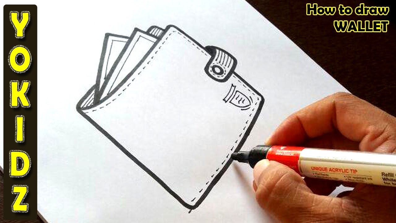 1280x720 How To Draw A Wallet