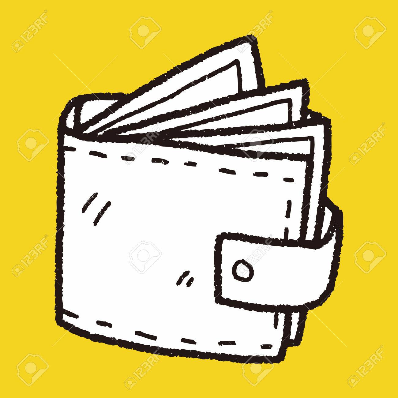 1300x1300 Wallet Doodle Drawing Royalty Free Cliparts, Vectors, And Stock