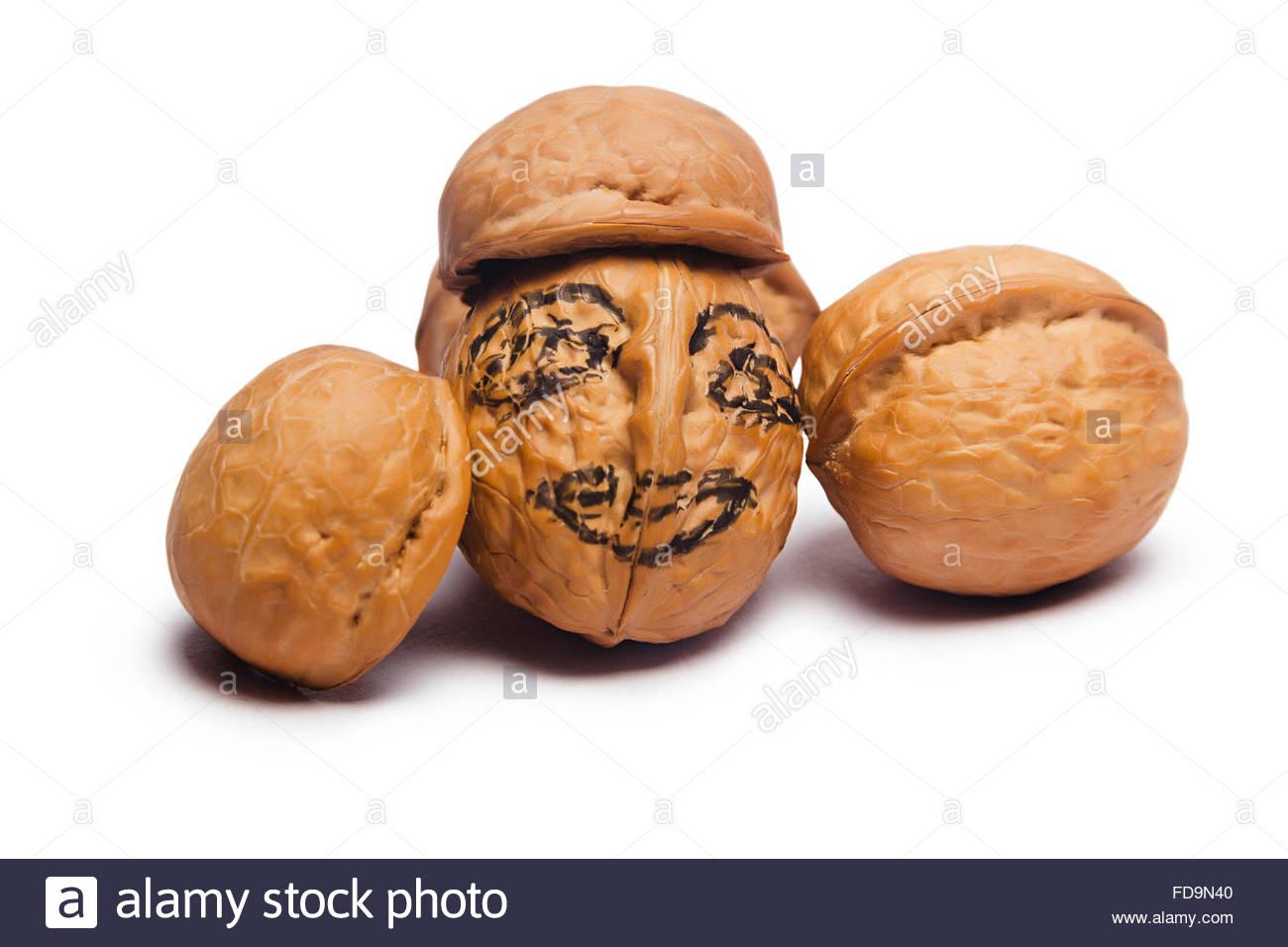 1300x956 Walnut Drawing Face Human Representation Nobody Stock Photo