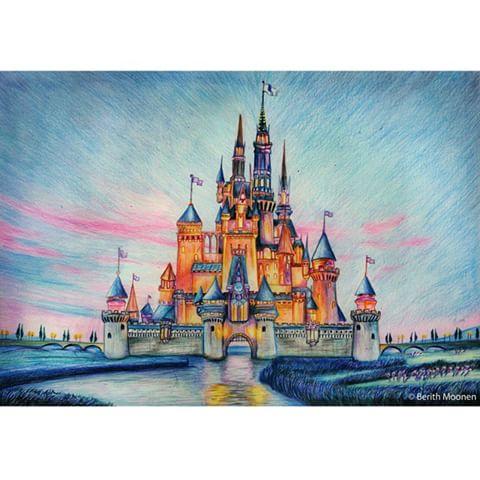 Disney Castle Blueprint Drawing West Elevation Walt 480x480 Berith Moonen Onceuponadrawing Instagram Photos And
