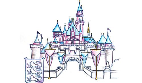 500x293 Sleeping Beauty Castle Park Icon Sketch Disney Pinterest