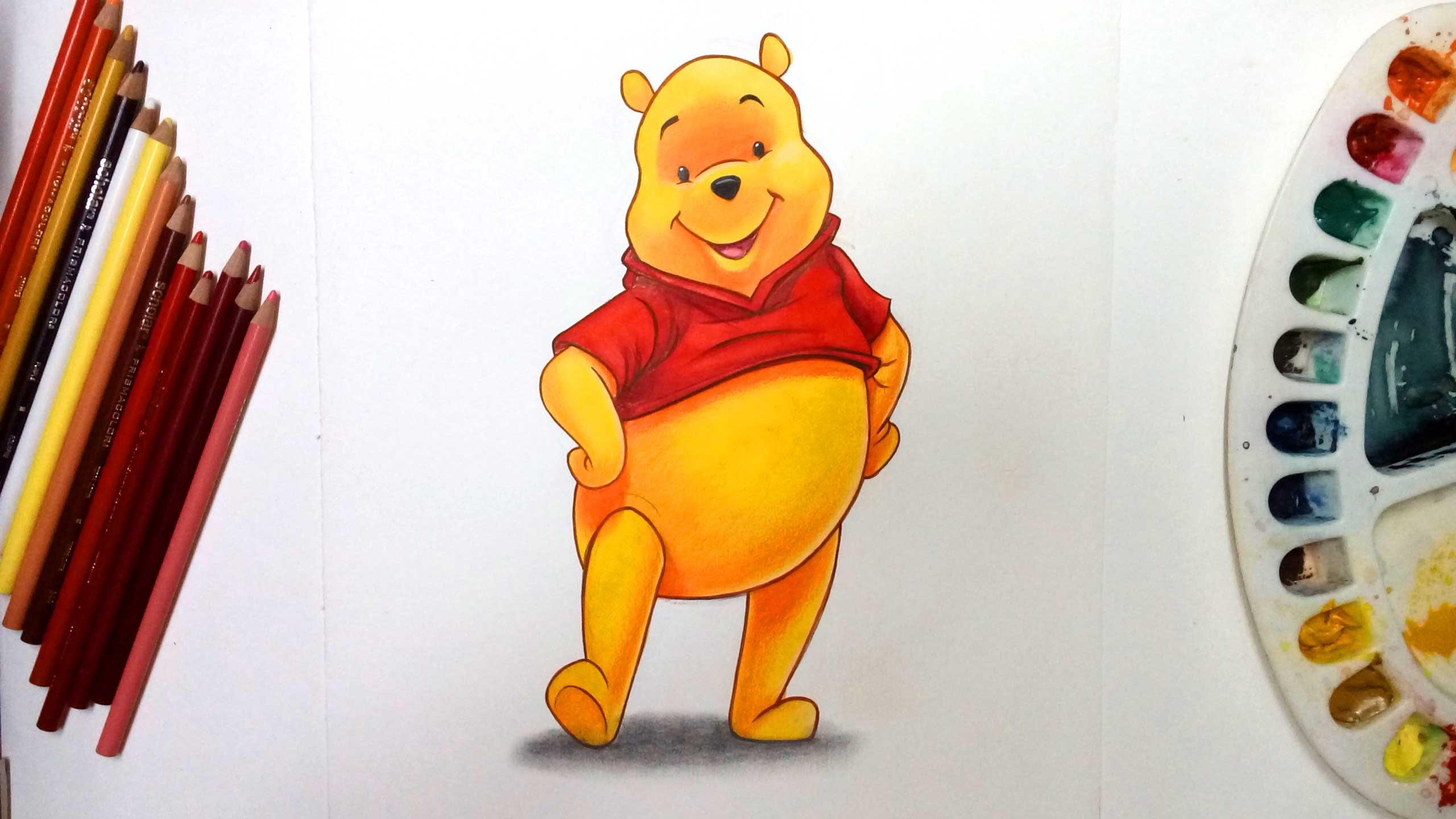 2560x1440 How To Draw Winnie The Disney