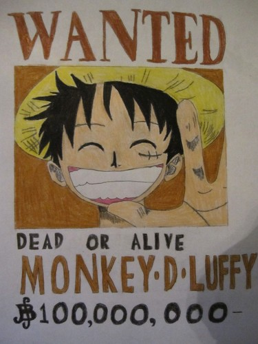 375x500 Anime Drawing Images Wanted Poster Of Luffy Hd Wallpaper