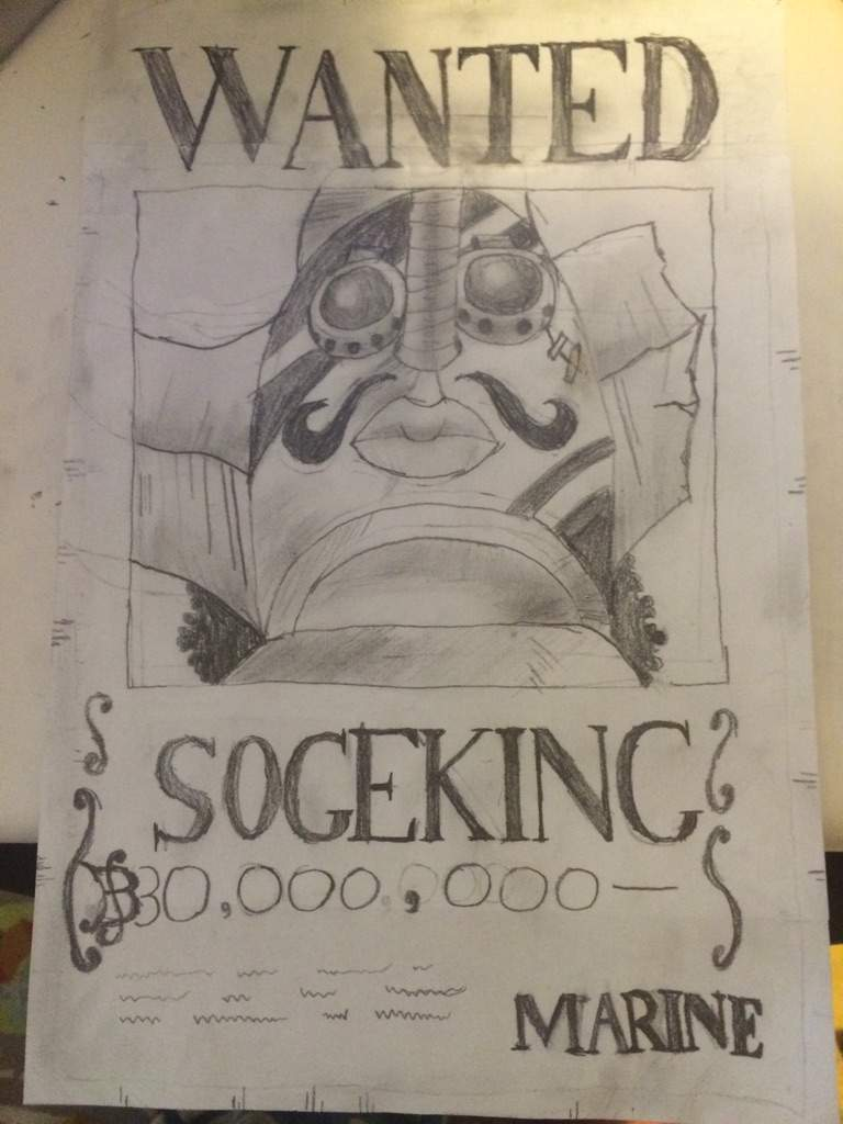 768x1024 New Sogeking Wanted Poster Drawing! Anime Amino