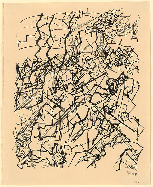 509x624 George Grosz War Drawing The Met