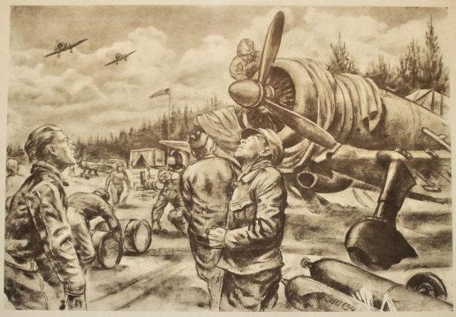 640x445 Pencil War Drawings (44 Pics)