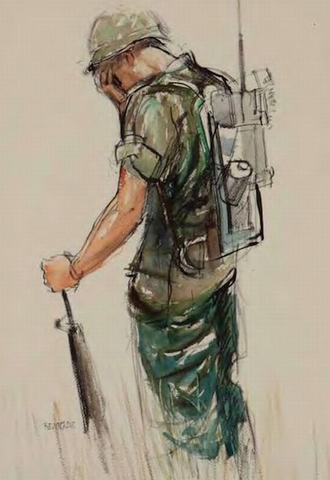 481x700 Military Soldier And Dog Drawing