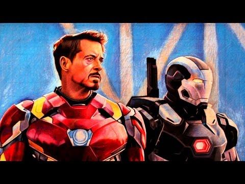 480x360 Drawing Iron Man ,war Machine