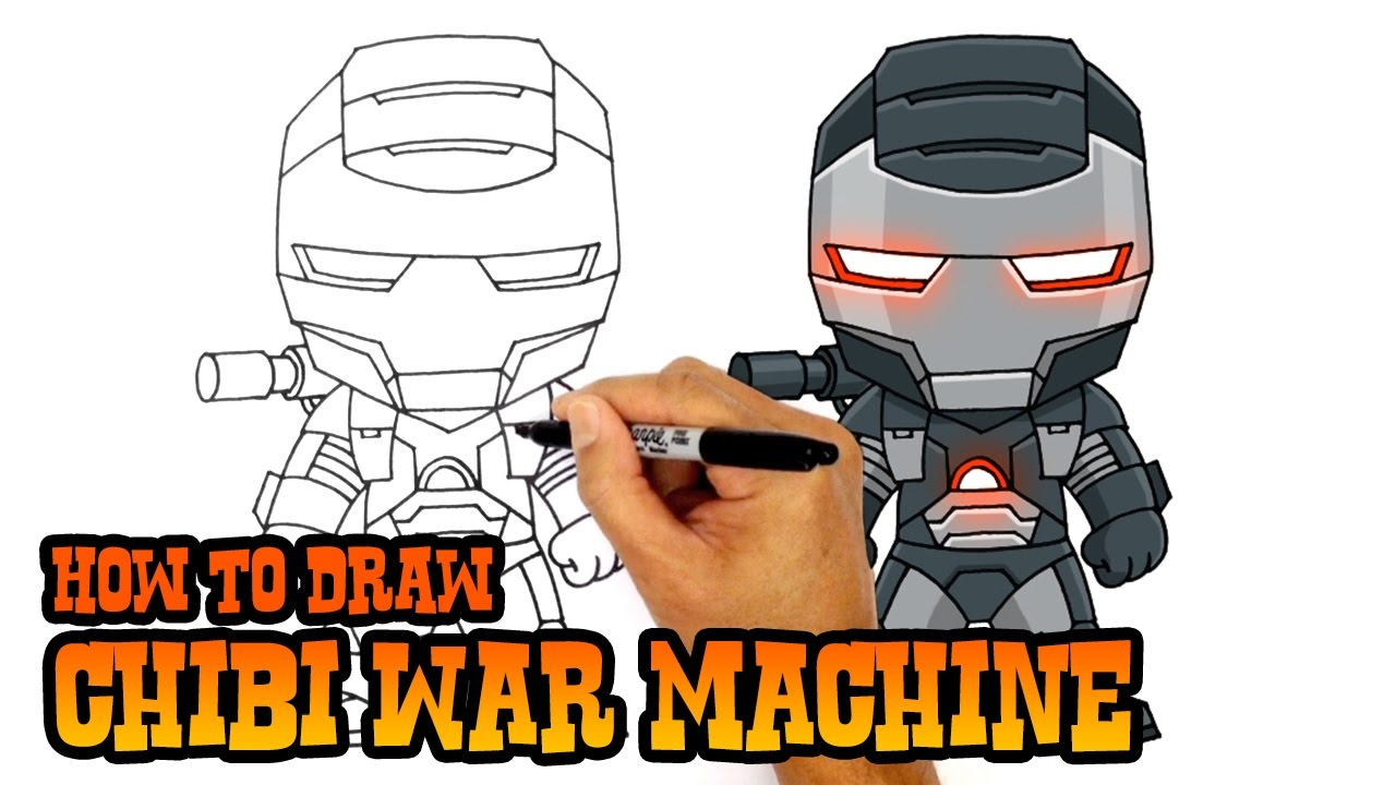 1280x720 How To Draw War Machine The Avengers