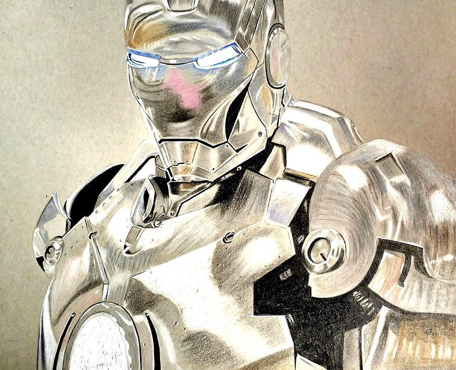 900x731 War Machine Drawing By Amandeep Singh
