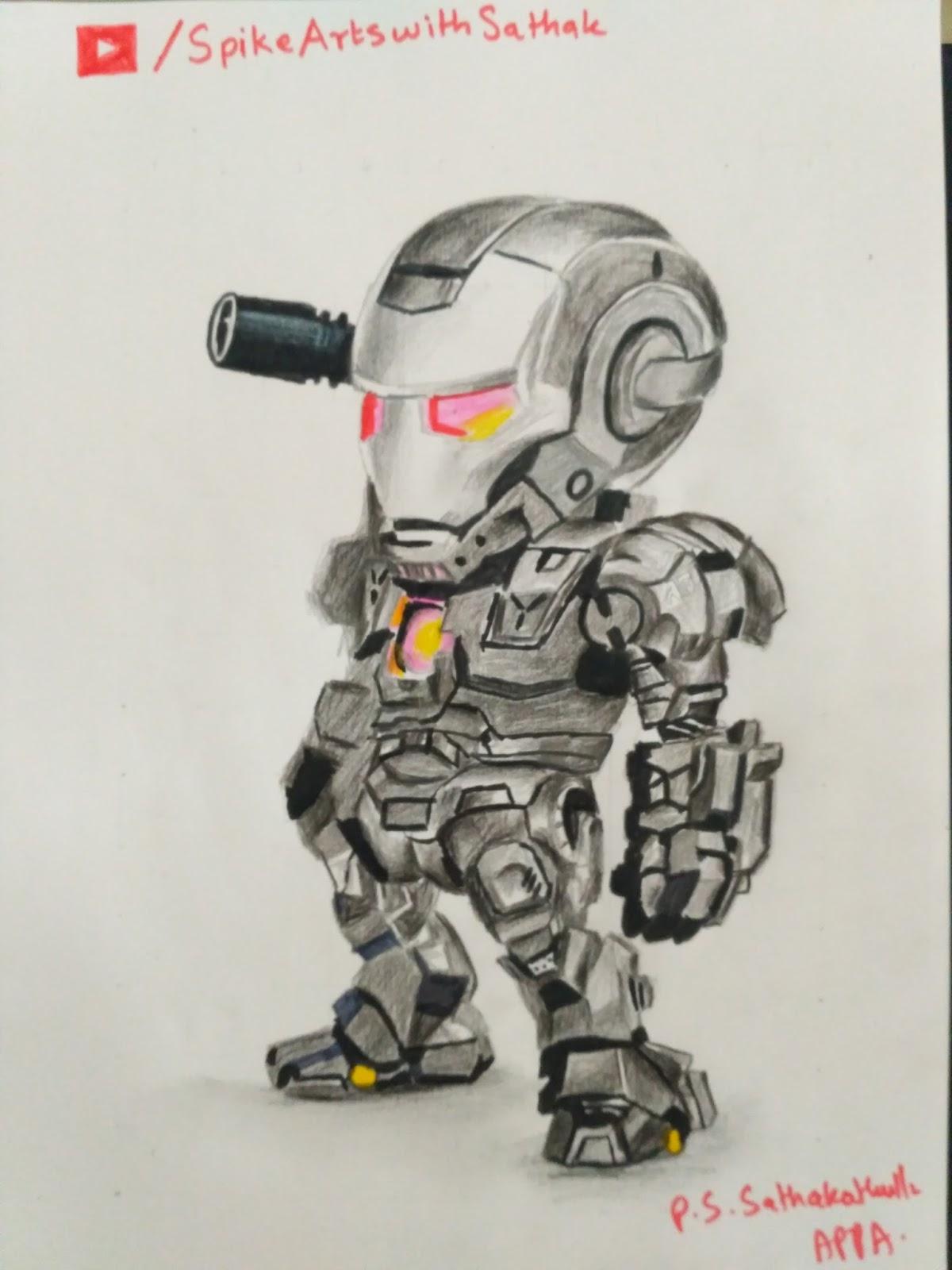 1200x1600 War Machine Drawing