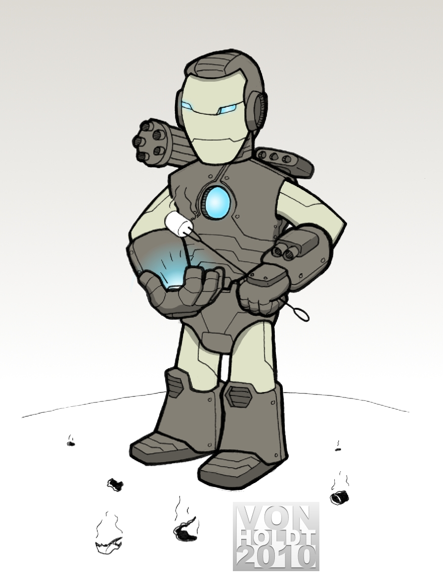 896x1184 War Machine Doodle A Day