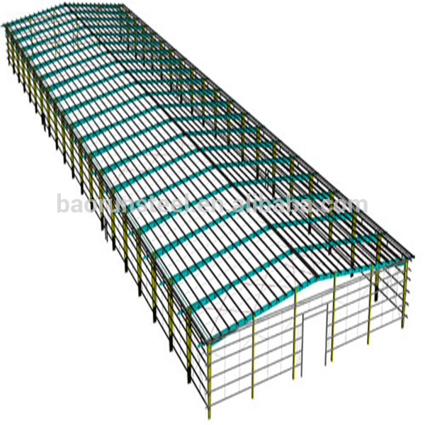 600x600 Industrial Shed Design Prefabricated Building Big Steel Structure