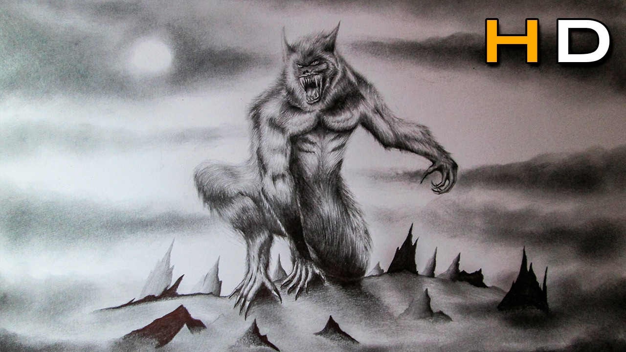 1280x720 How To Draw A Realistic Werewolf With Pencil Step By Step