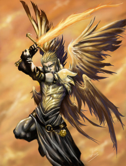 500x656 Archangel Michael Drawing Illustration Ange Guerrier Et