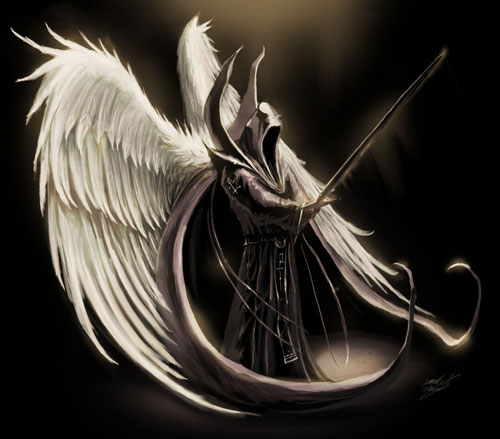 500x439 Dark Angel Drawing Illustration Anime Warrior