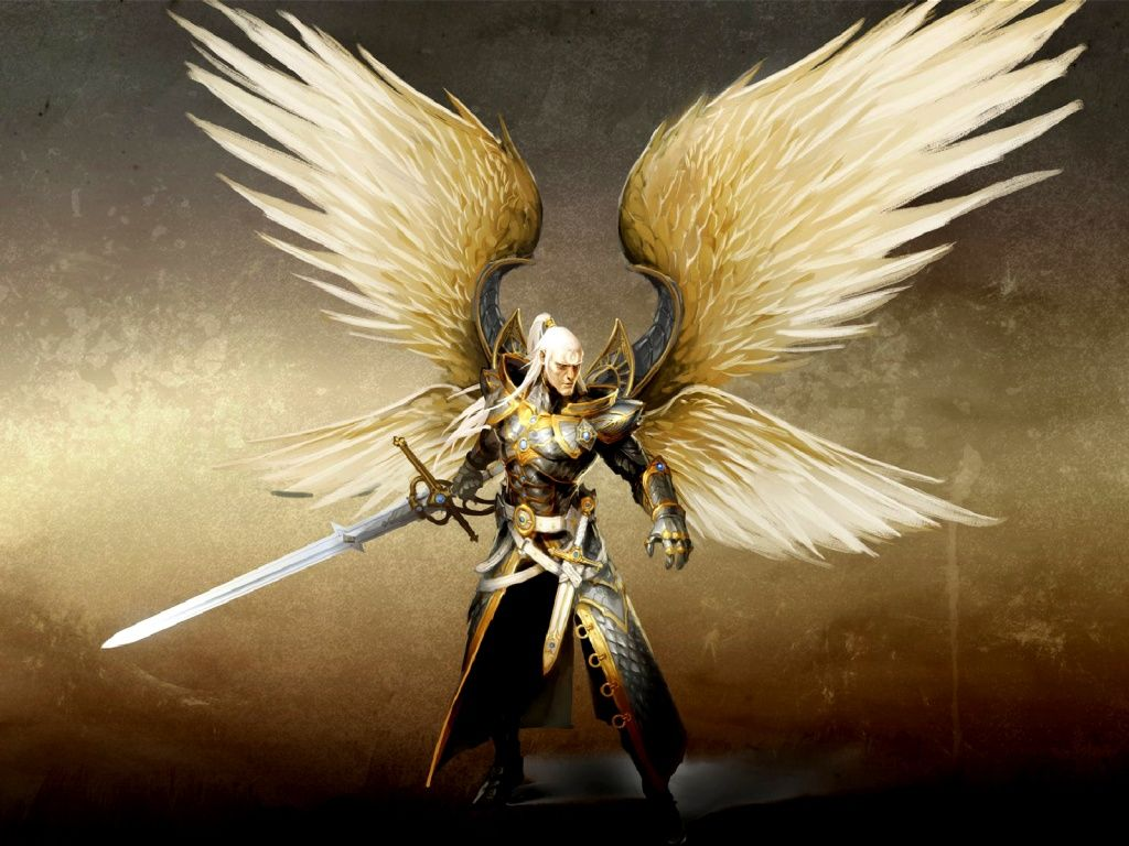 1024x768 Warrior Angel Art Angel Warrior Snow From Warriors Re Wallpaper