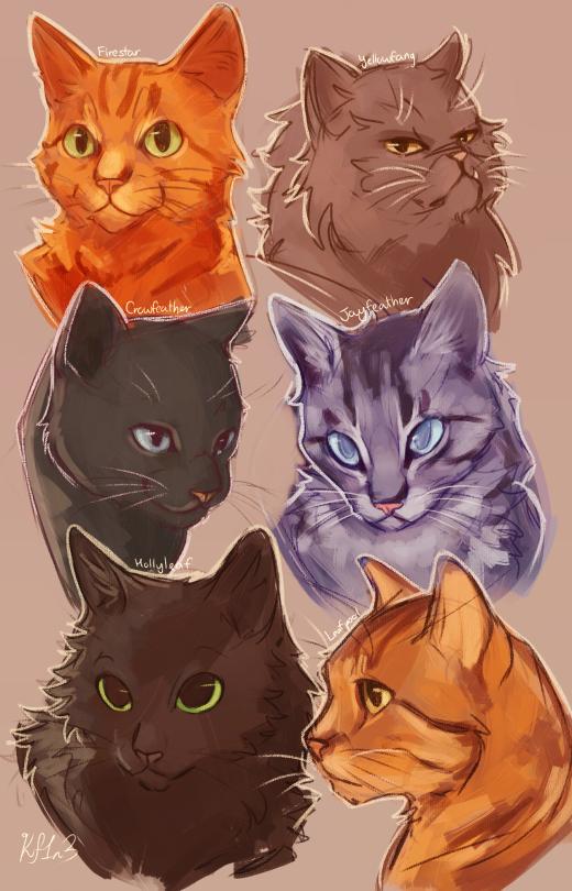 520x810 Warrior Catsfirestar, Yellowfang, Crowfeather, Jayfeather