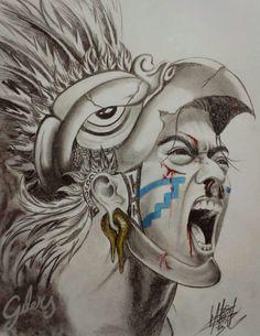 236x305 Aztec Warrior Drawings