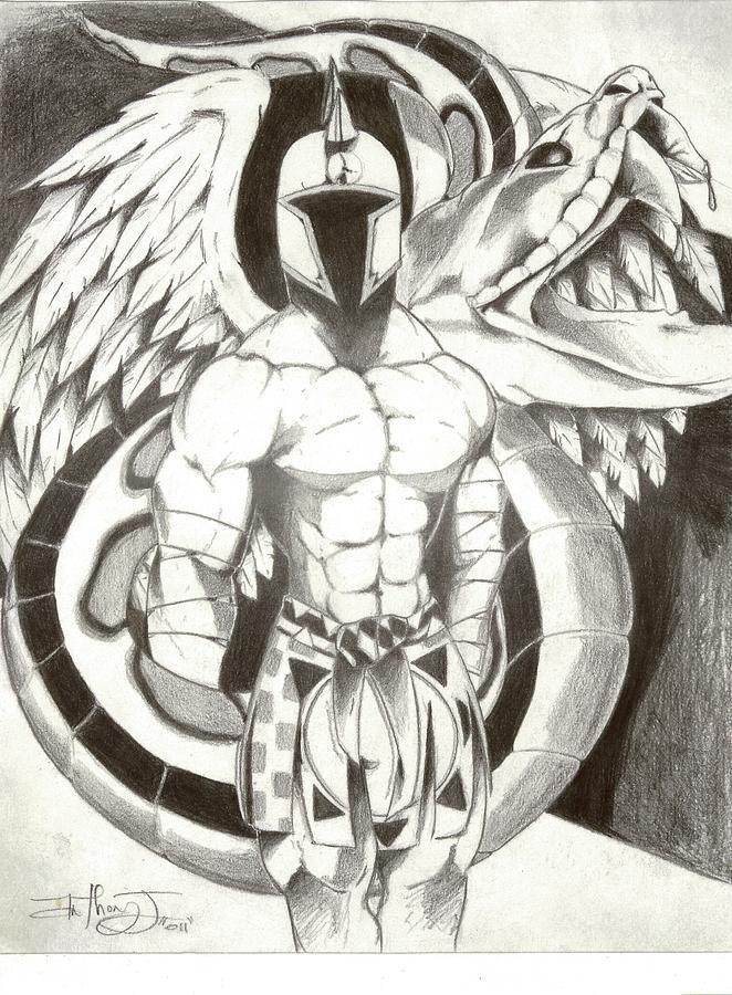 662x900 Dark Warrior Drawing By Anthony Johnson