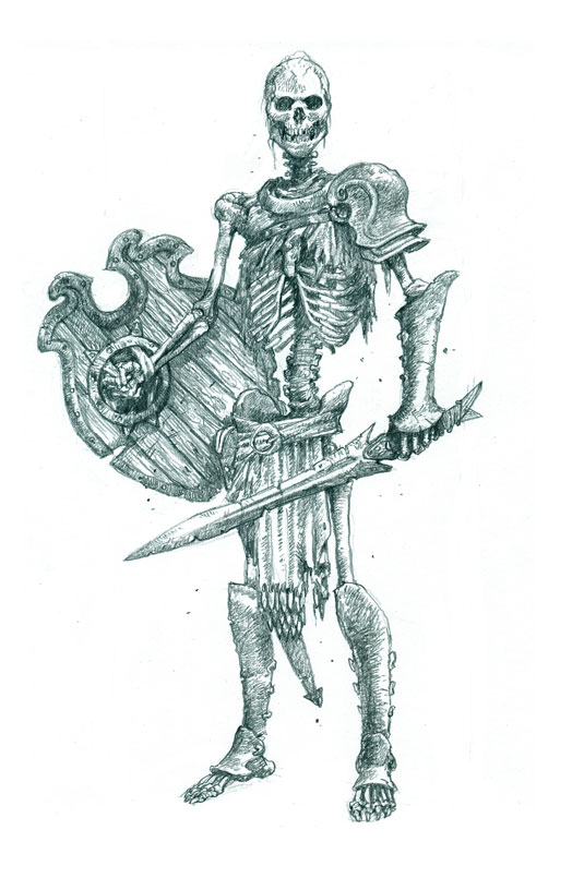 535x816 How To Draw Fearsome Skeleton Warriors Skeletons, Monsters And Rpg