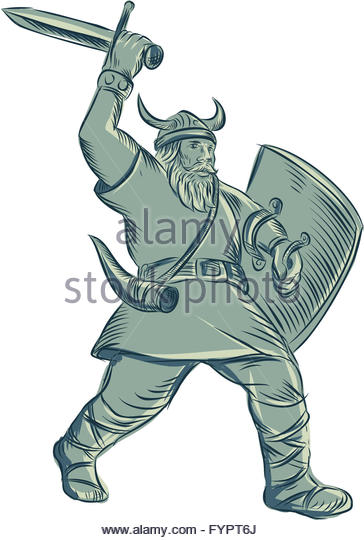 364x540 Viking Warrior Drawing Stock Photos Amp Viking Warrior Drawing Stock