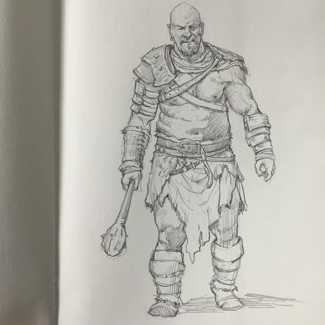 1080x1080 Warrior Sketch
