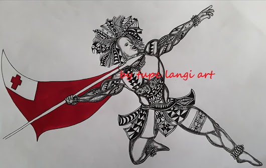 530x335 Drawing Of An Old Warrior From The Polynesian