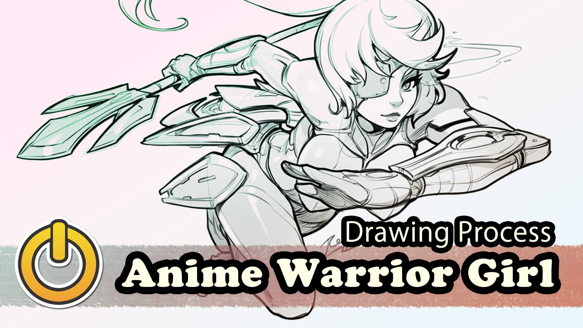 1920x1080 Anime Warrior Girl Drawing Process By Reiq