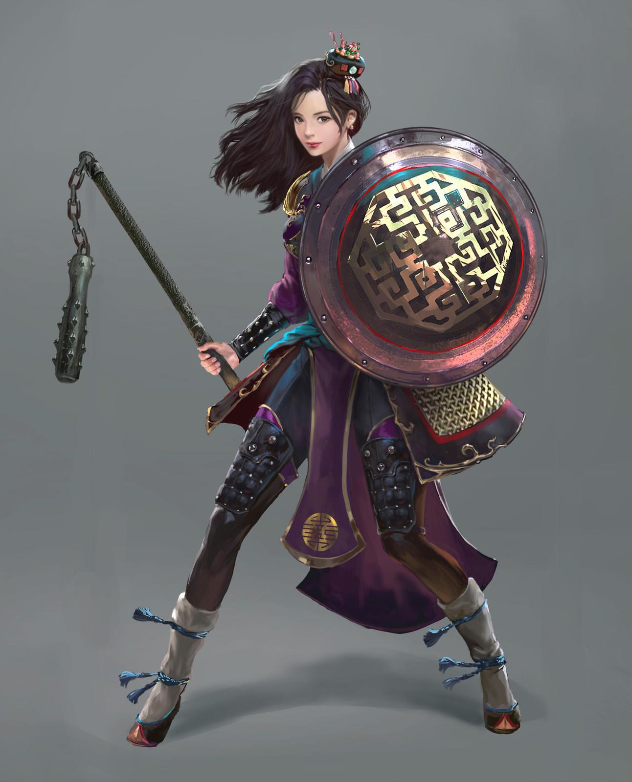 1292x1600 Asian Warrior Girl, Jin Hong Park On Artstation