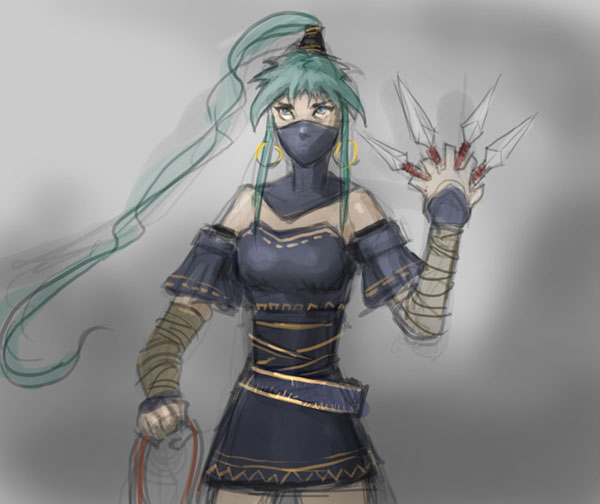 600x504 How To Draw Manga Ninja Girl