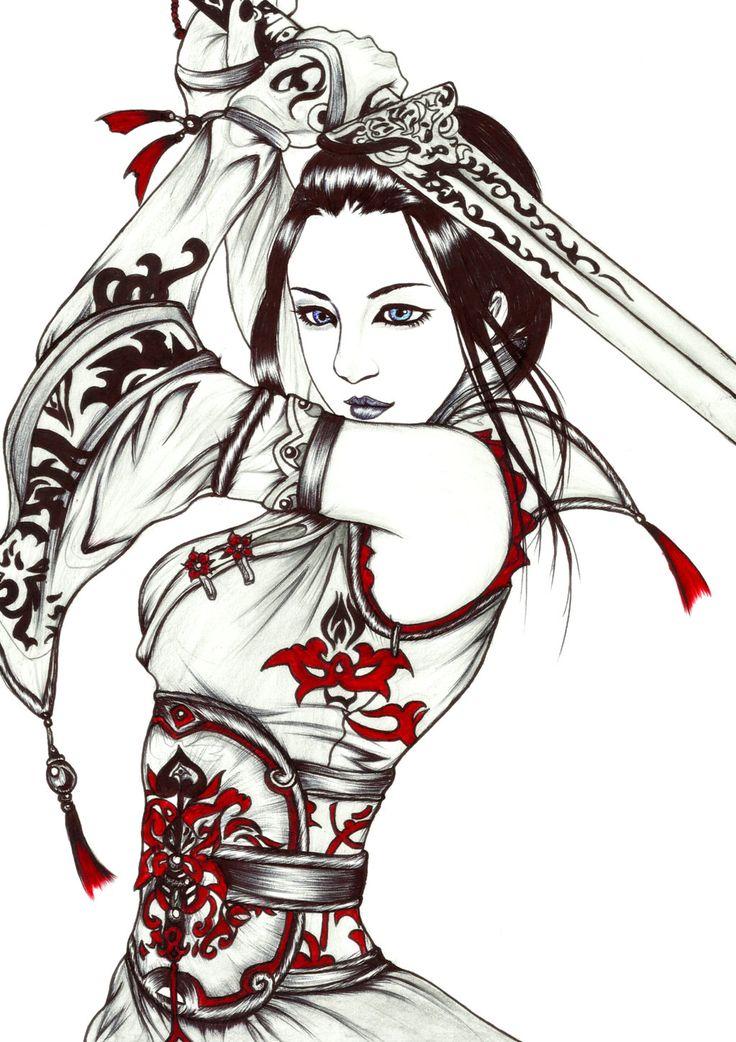 736x1042 Female Samurai Warriors Warriors Women, Warrior Girl, Ninjas