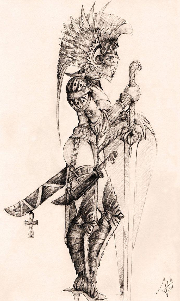 691x1155 Woman Warrior Tattoos Woman Warrior, Art Women