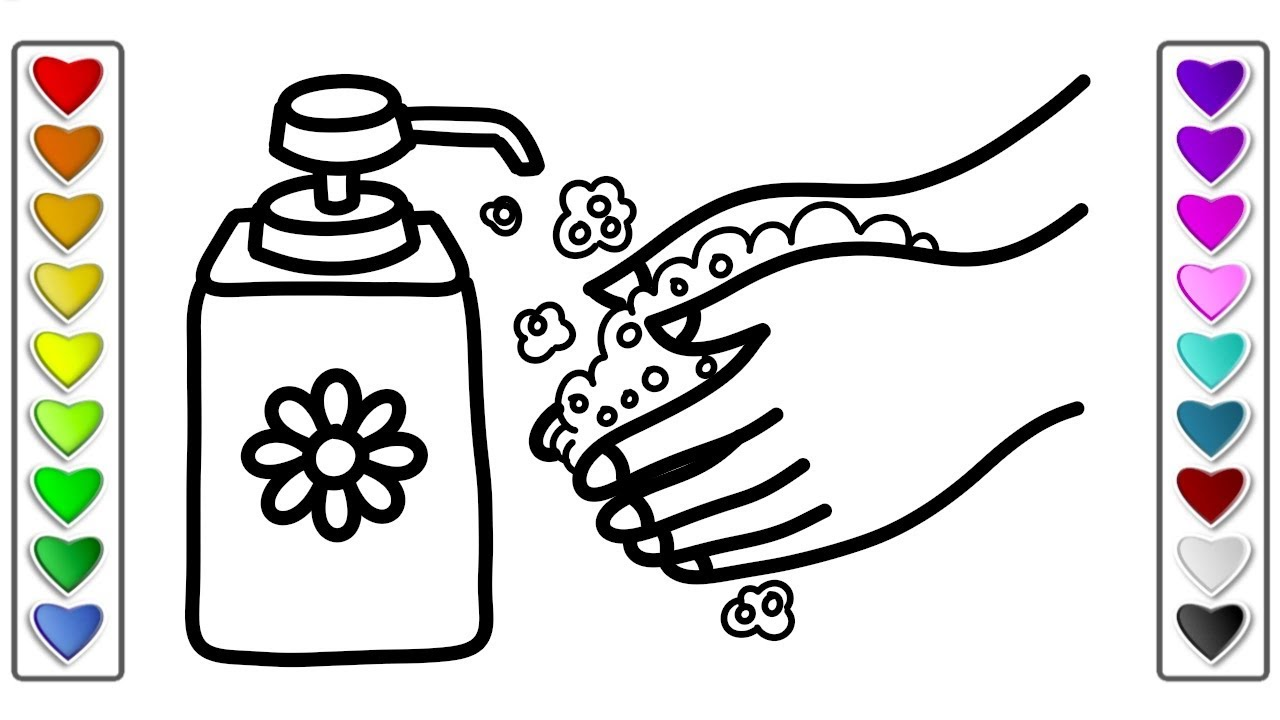 1280x720 How To Draw Wash Your Hands L Drawing And Coloring Pages Learn