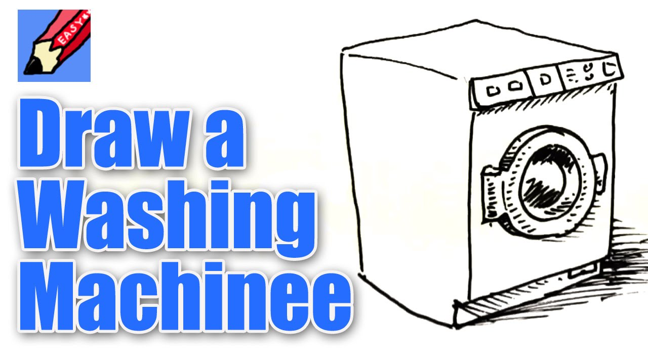 1280x720 How To Draw A Washing Machine Real Easy