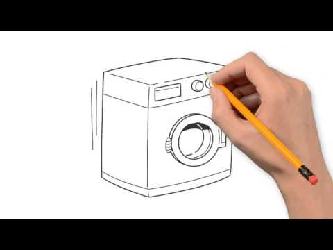 480x360 Washing Machine Things To Draw In Pencil Step By Step
