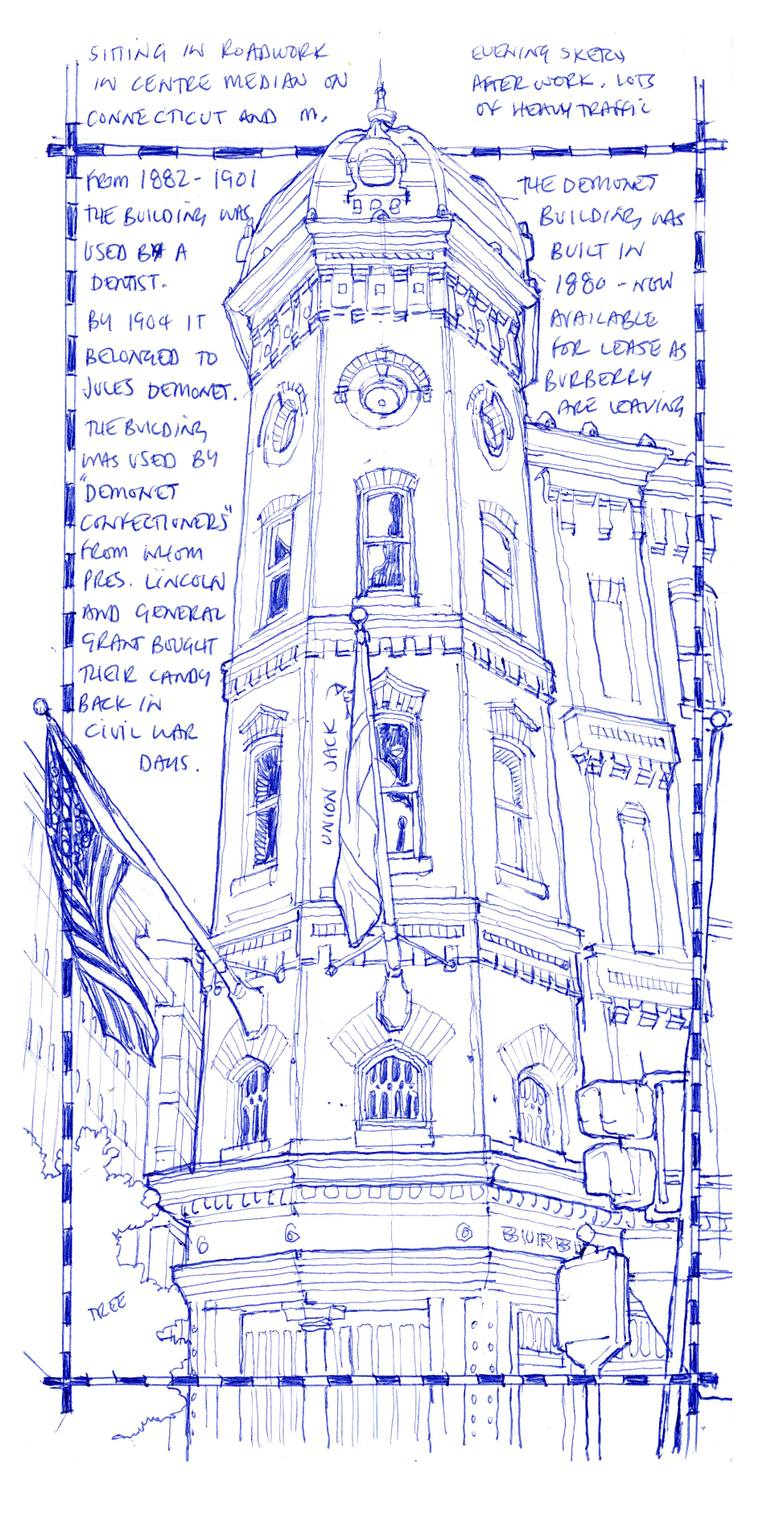 770x1526 Saatchi Art Demonet Building In Washington, D.c. Drawing By