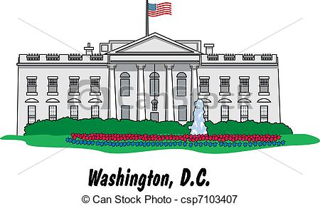 450x289 The White House In Washington, D.c. Vectors Illustration