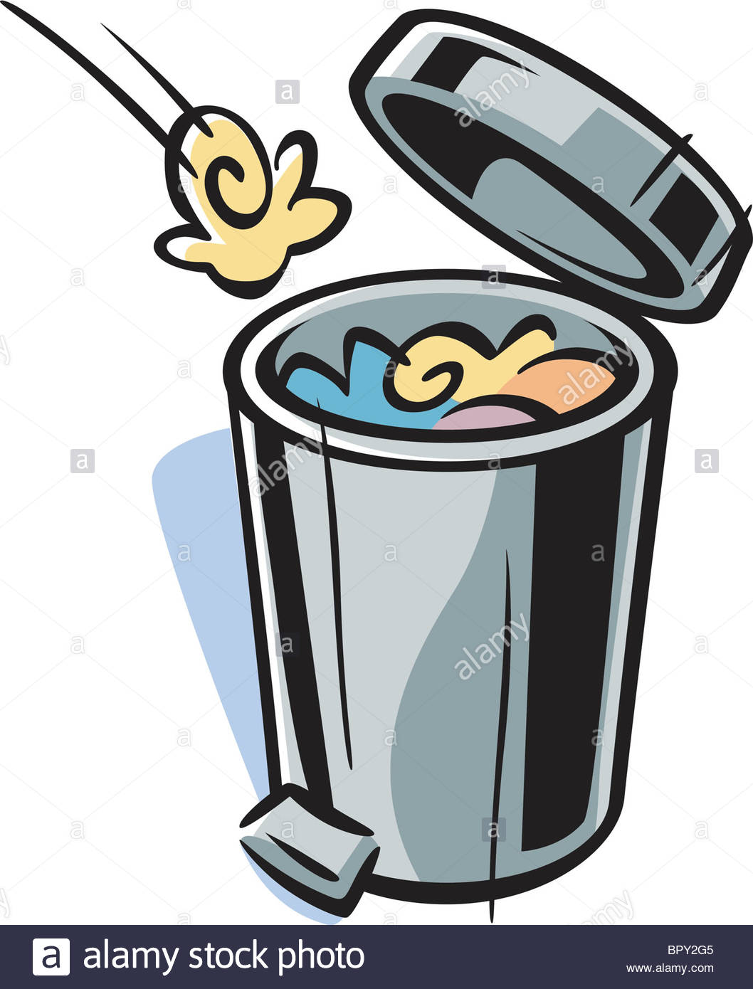 1058x1390 Cartoon Drawing Of A Trash Can Stock Photo 31327525